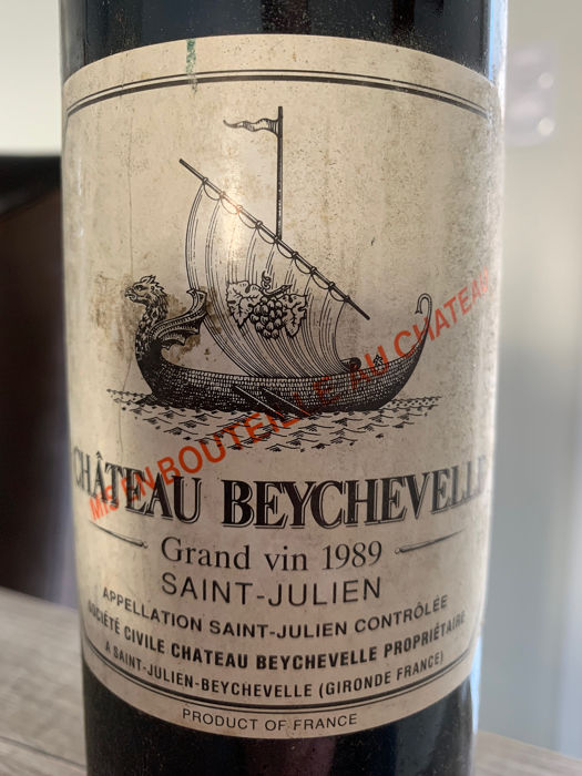1989 Château Beychevelle - Saint-Julien Grand Cru Classé - 1 Bottle (0.75L)