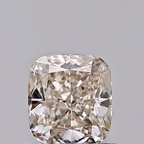 1 pcs Diamante - 0.51 ct - Cojín - Faint brown - VS1