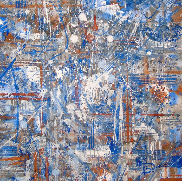 Dumont Bruno - white and blue composition