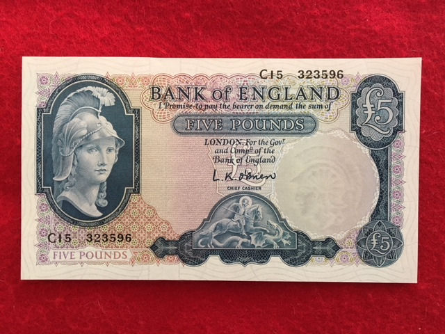 Great Britain - 5 Pounds 1957 - Pick 371a