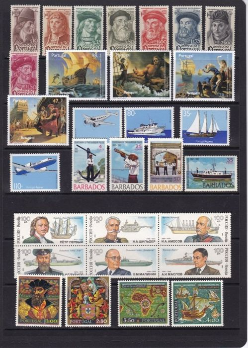 Wereld 1967/2012 - thematic boats -  Series Complete Set, Block