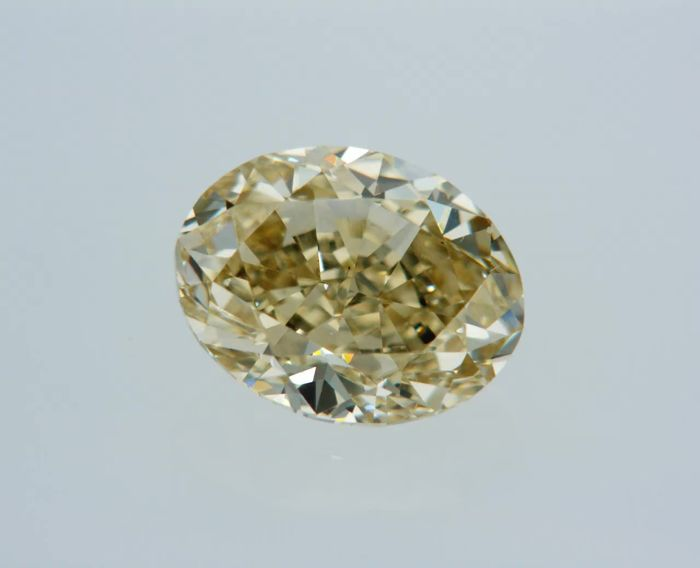 1 pcs Diamond - 1.01 ct - Οβάλ - fancy brownish yellow - VVS2