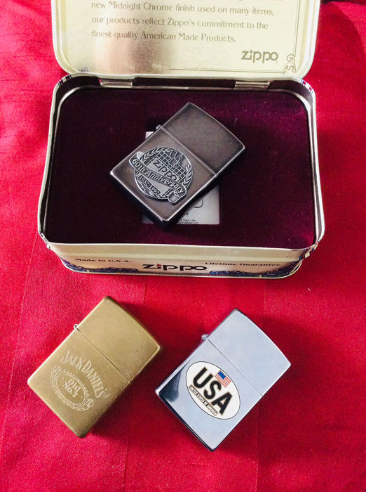 Zippo - Zippo 60th Anniversary Series 1932-1992 + - Collection complète de 3