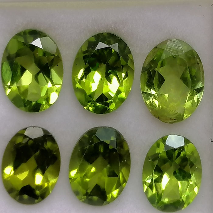 6 pcs  Peridot - 7.65 ct