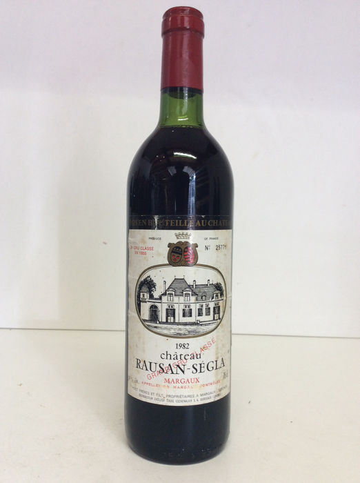 1982 Chateau Rauzan-Segla - Margaux Grand Cru Classé - 1 Bottle (0.75L)