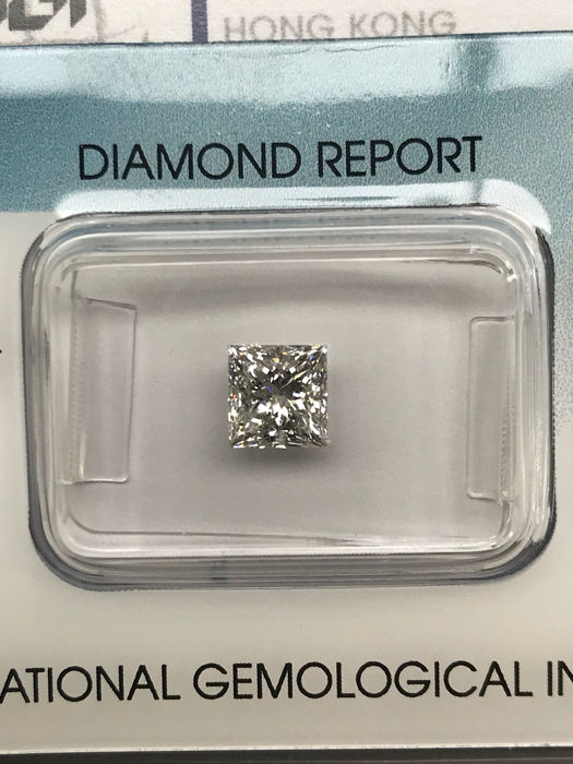 1 pcs Diamond - 1.01 ct - Princess - F - SI2