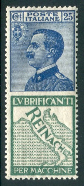 Italy Kingdom 1924/1925 - Advertising Reinach 25 cents - Sassone N. 7