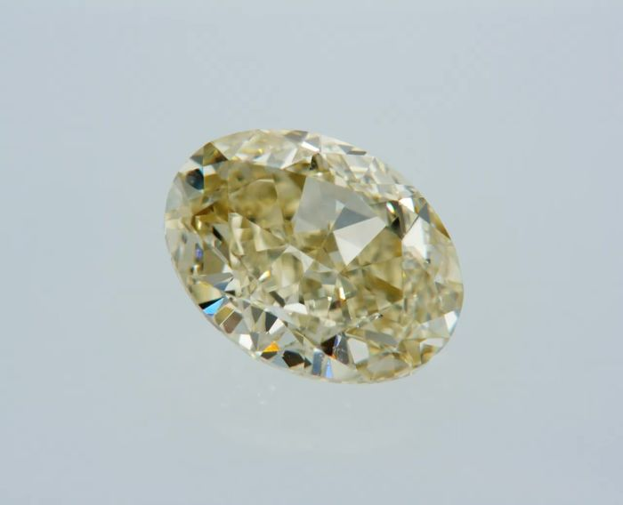 1 pcs Diamant - 1.01 ct - Oval - fancy yellow - IF (makellos)