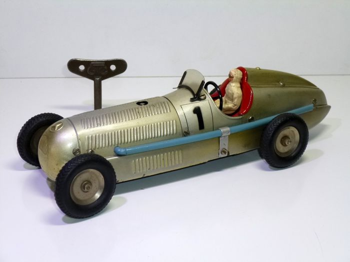 "Märklin (Germany) - 1930's Mercedes Benz ""Silver Arrow"" Racer, clockwork - 1930-1939 - Duitsland"