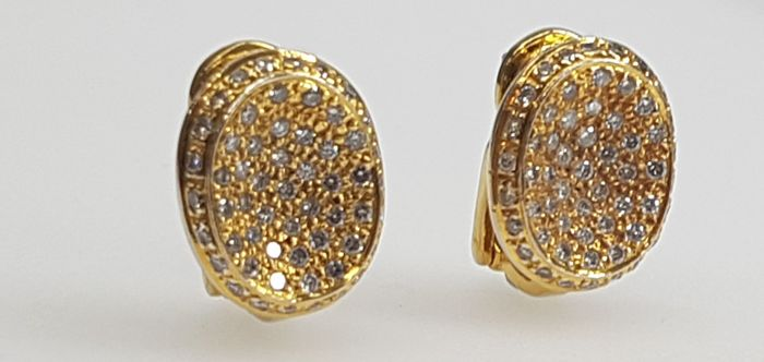 18 quilates Oro amarillo - Pendientes - Diamantes