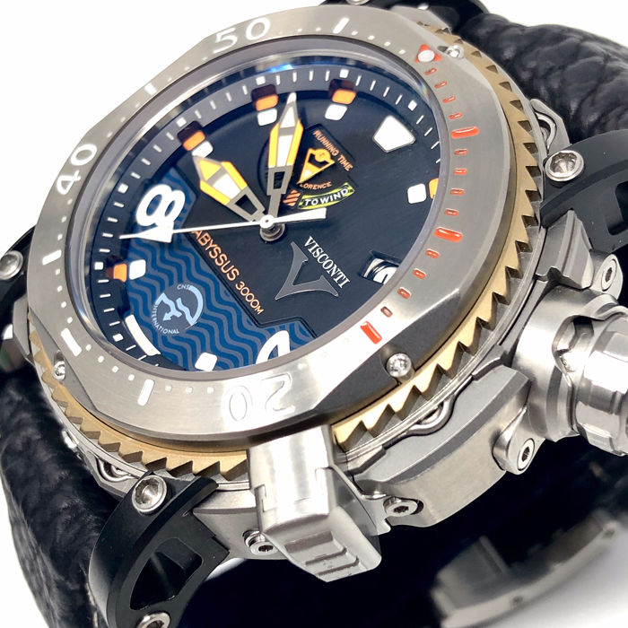 Visconti Abyssus Pro Dive 3000m Inox Diver Watch 8 133 W108 00 123 1408 Men New Catawiki