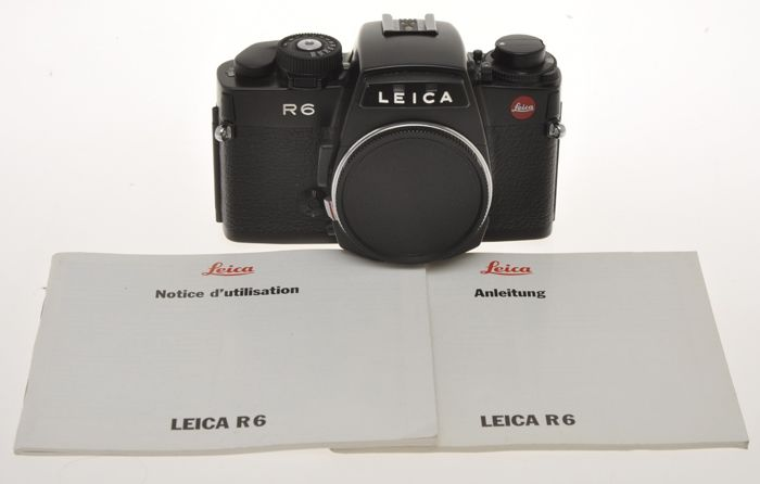 Leica  R6 black finish, mechanical shutter and manual exposure, exc++++