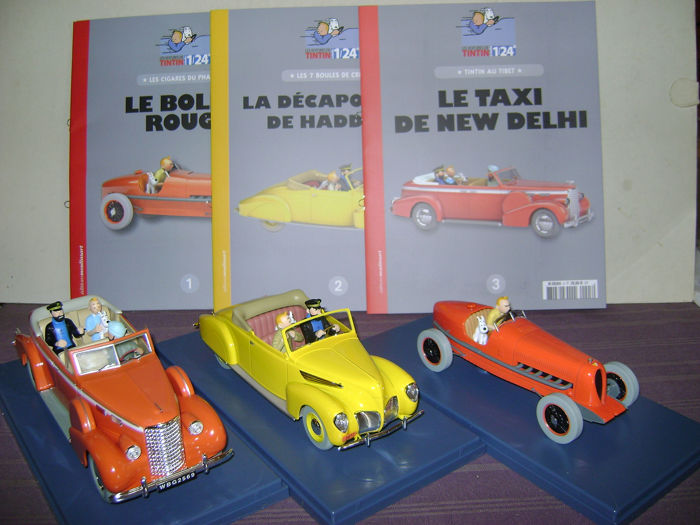 Tintin - 3x voitures 1:24 - Les 3 premiers exemplaires  - First edition - (2018)