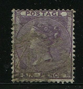 Groot-Brittannië - Engeland 1856 - 6 pence deep lilac watermark error - Stanley Gibbons 69var
