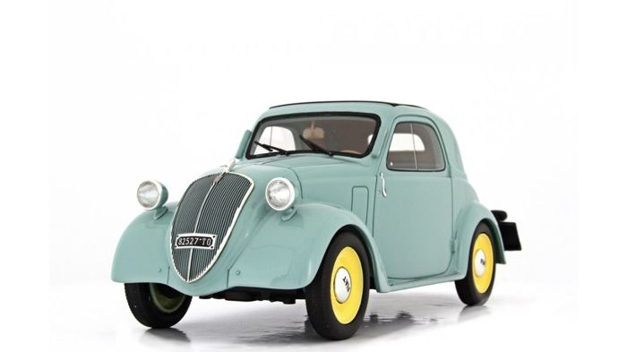 "Laudoracing - 1:18 - Fiat 500 B ""Topolino"" Trasformabile 1948 - Groen - Limited to 250 pieces!"
