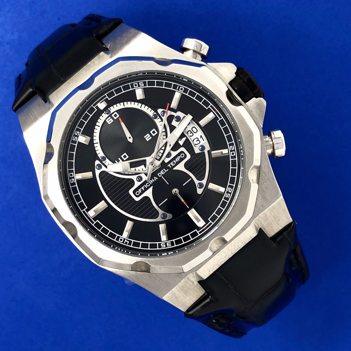 "Officina del Tempo - New Race Limited Edition Chronograph Black Dial  - OT1041-110N .""NO RESERVE PRICE"" - Heren - BRAND NEW"
