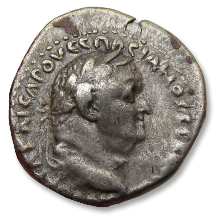 Roman Empire - Cappadoccia. AR 21mm didrachm,  Vespasian / Vespasianus, Caesaraea-Eusebia mint 76-77 A.D. - Nike advancing right - Silver