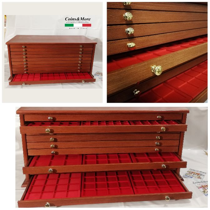 Grande Monetiere 10 laden 30 trays 720 zitplaatsen - Made in Italy realizzato a mano