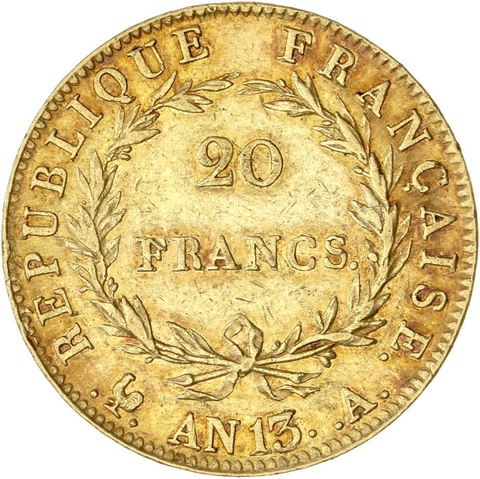 20 Francs An 13-A (Paris) Napoléon I - Or