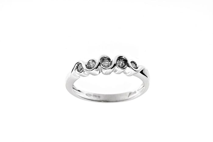 Miluna - Made in Italy - 18 karaat Witgoud - Ring - 0.27 ct Diamant