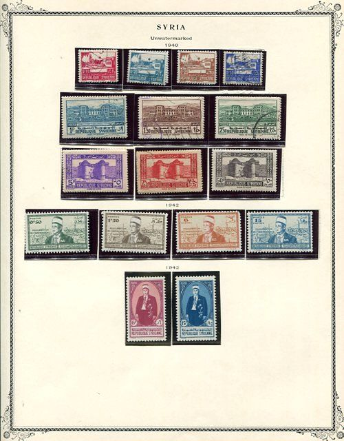 """Syrië 1940/1957 - nice lot with Airs and """"back of the book"""" items."""