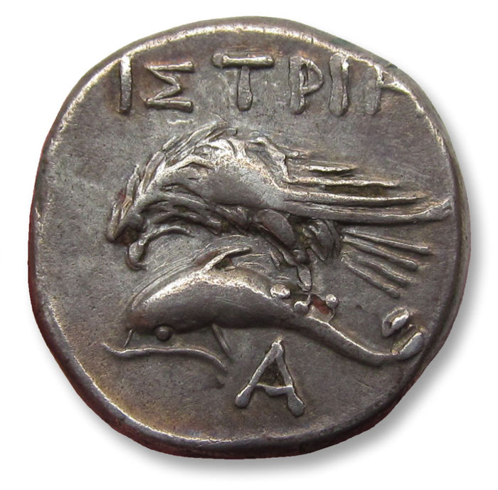 Greece (ancient) - Thrace, Moesia Inferior, Istros. AR Drachm, 400-350 B.C. - hints of gold irridescence - Silver