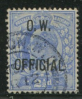 Groot-Brittannië - Engeland 1902 - 2,5 penny ultramarine official EVII Office of Works  - Stanley Gibbons O39