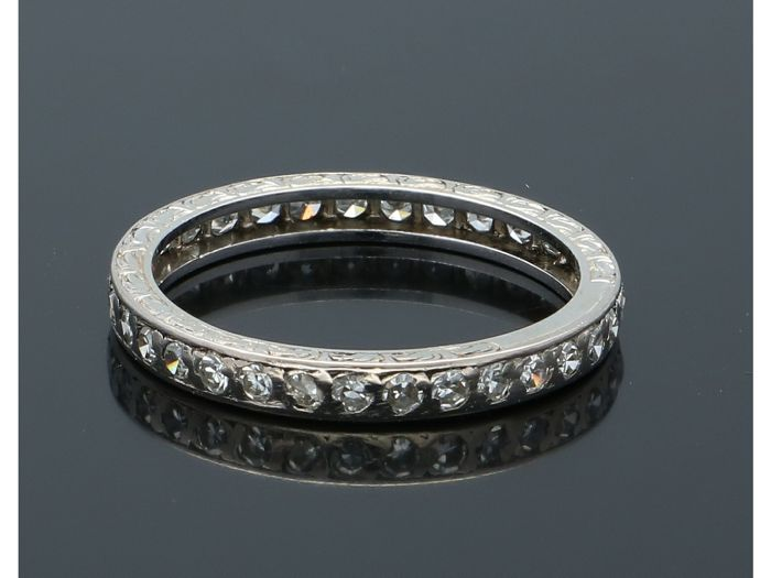 14 karaat Witgoud - Ring - 0.35 ct Diamant