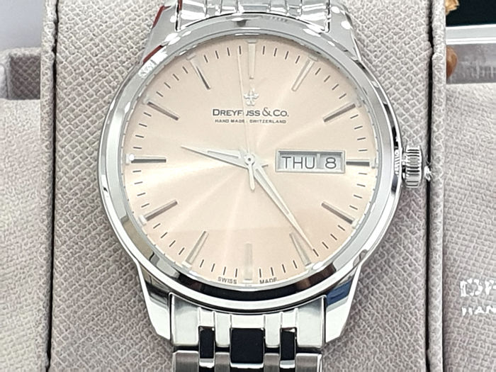 "Dreyfuss & Co. - "" NO RESERVE PRICE"" 1980 Stainless Steel - Day and Date  - DGB00125/25