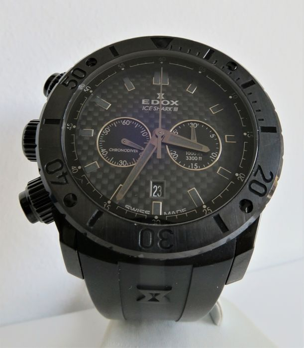 """Edox - Ice Shark III Chrono-Diver - limited edition 019/250 """"NO RESERVE PRICE"""" - 10304 37N2 GIN - Heren - 2011-heden"""