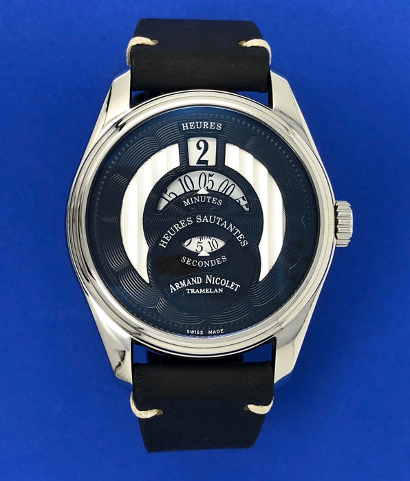Armand Nicolet - HS2 Jumping Hours Automatic Watch Black - A136AAA-NR-PK2140NR - Homme - BRAND NEW