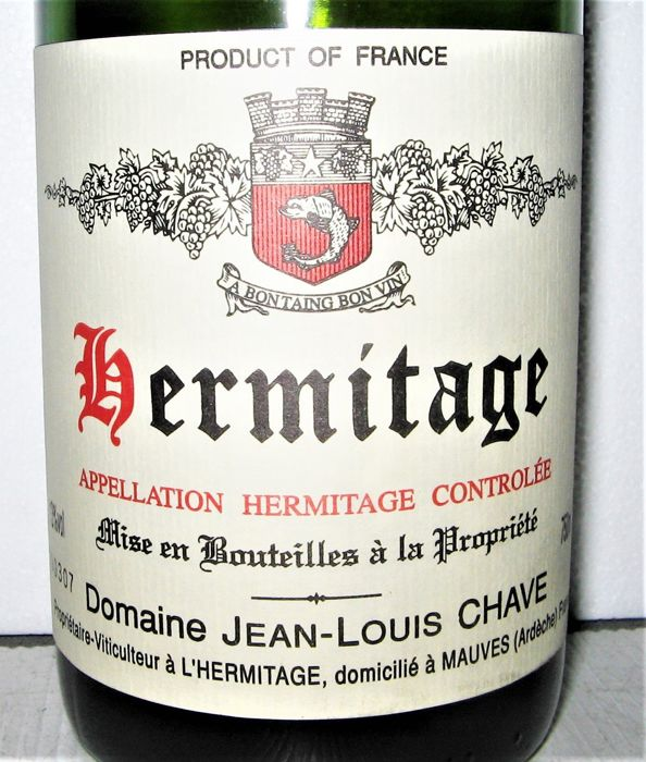 1990 Hermitage (Blanc) - Domaine Jean-Louis Chave - Rhone - 1 Bouteille (0,75 l)