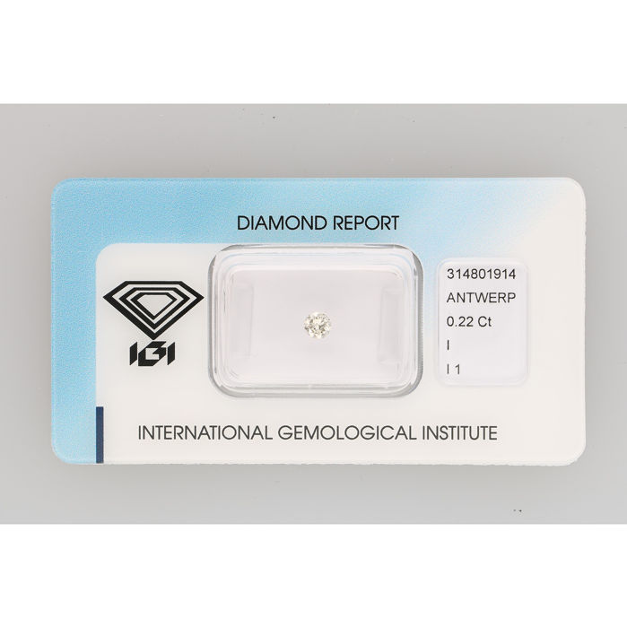 Diamant - 0.22 ct - Briljant - I - P1