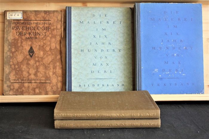 The psychology of arts - Lot with 5 books - 1919/1933