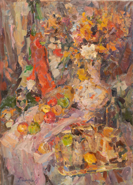 Anatoly Demenko (b. 1980) - Still life with fruits