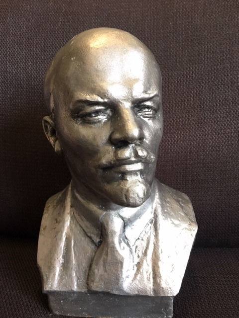 atelie of N. Baganov - Bust V.I. Lenin of the communist leader and founder of the USSR, 1975  (1) -  	Silumin