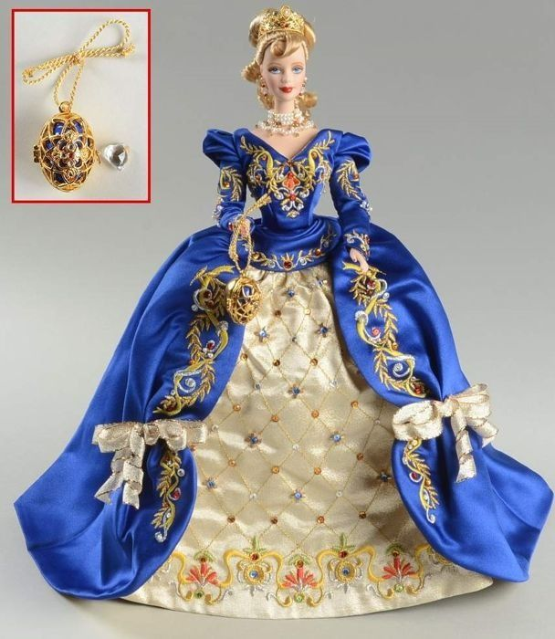 Fabergé ™ Imperial Elegance ™ Barbie® Doll 1997 - n ° 11356 - 22K gold plated Tiara and Faberge Egg - Absolute NEW, Never Left its box