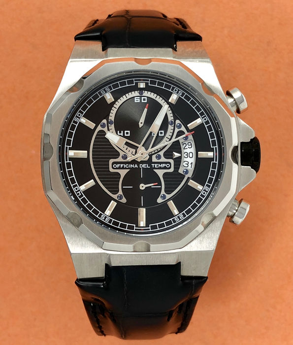 "Officina del Tempo - New Race Limited Edition Black Dial ""NO RESERVE PRICE"" - OT1041-110N - Hombre - BRAND NEW"