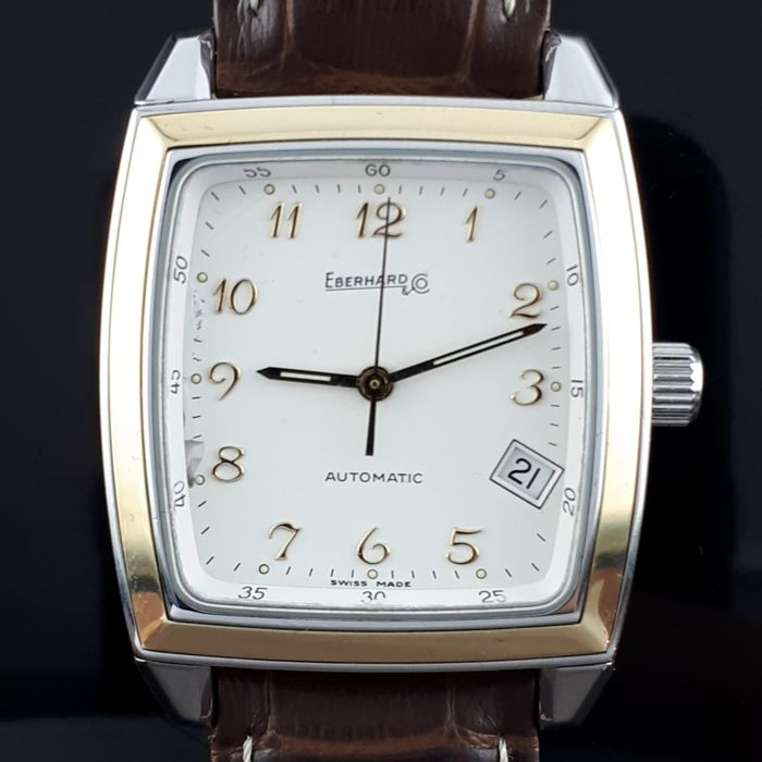 Eberhard & Co. - Quadrangolo, Automatic, Gold /Steel - 42018 - Men - 2000-2010