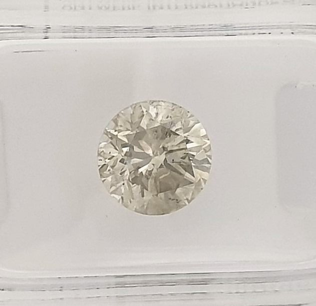 Diamond - 2 07 ct - Brilliant - J - SI1 - Catawiki
