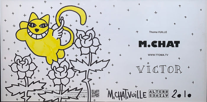 M.Chat aka Thoma Vuille (Monsieur Chat) - Flowered Cat
