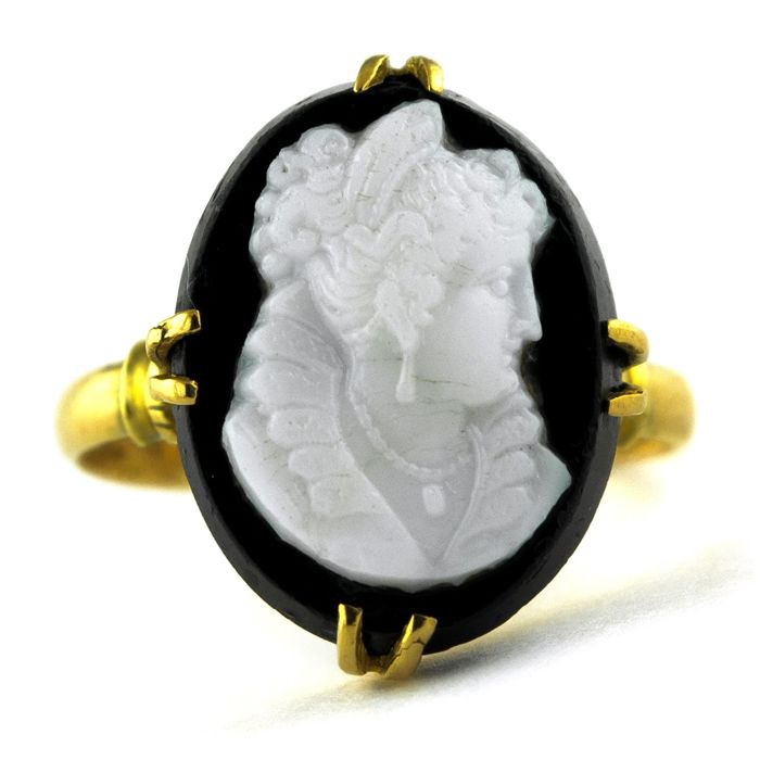 Antique - 18 kt. Yellow gold - Ring Camay