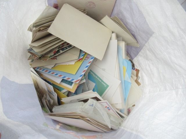Wereld - Bulk batch of stamps, letters and stationary