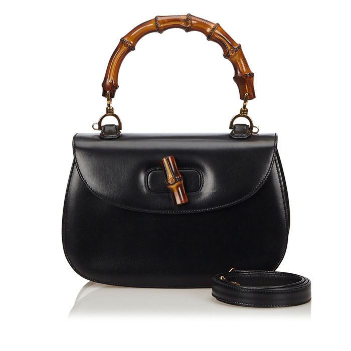 Gucci - Bamboo Leather Bag Cartable