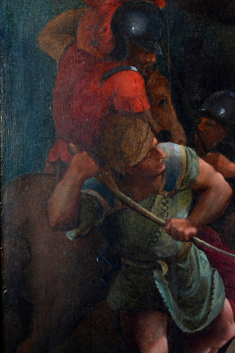 Painting Renaissance Style Martyrdom Of St Lawrence Copy From Titian Oil On Wood Late 17th Century Catawiki