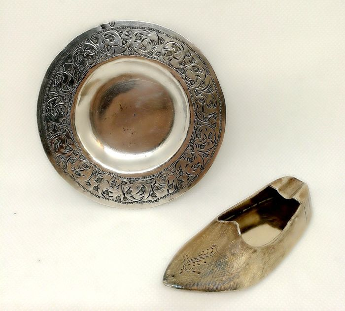 Two Beautiful Silver Ashtrays (2) - .800 silver
