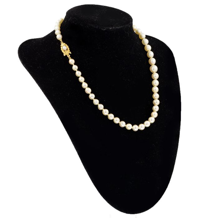 18 kt. Freshwater pearls - Necklace