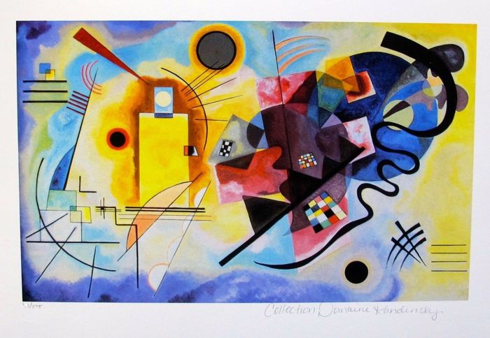 Wassily Kandinsky (after) - Yellow Red Blue.Certificate