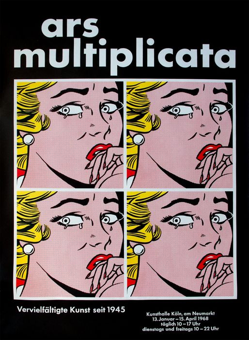 Roy Lichtenstein - Ars multiplicata (Crying Girl), Kunsthalle Köln - 1968