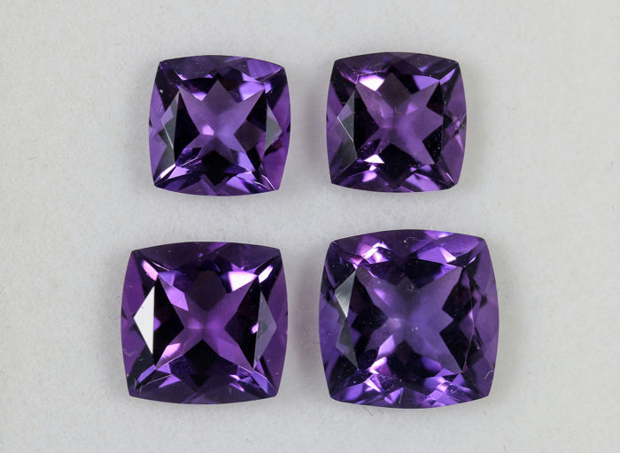 4 pcs  Ametista - 13.50 ct